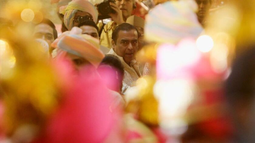 India's richest man throws the wedding to end all weddings