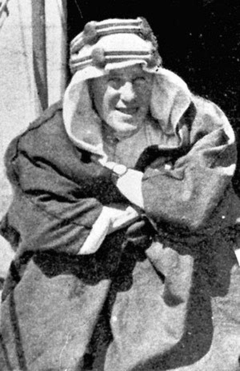 """T.E. Lawrence, the adventurer immortalized as """"Lawrence of Arabia"""" for leading an army of desert warriors, is seen in this undated photo."""
