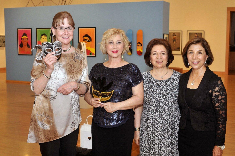 Rancho Santa Fe Democratic Club Treasurer Susan Wayo, Haydeh Mirmiran, Sorryya Habibafshar, Azar Habibafshar