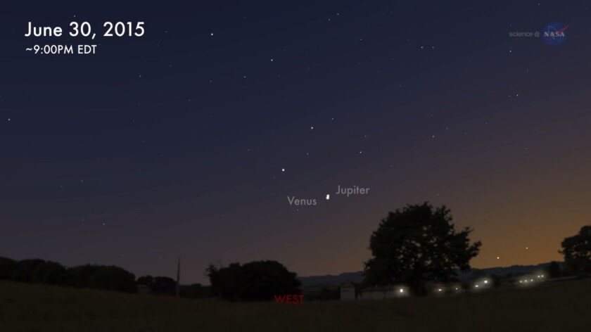 Tonight, Venus and Jupiter are set for their closest conjunction of the year, according to NASA.