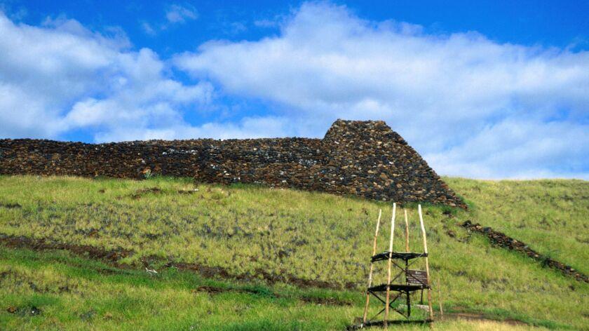Puukohola heiau was built for King Kamehameha's war god in 1790 - Hawaii (Big Island), Hawaii