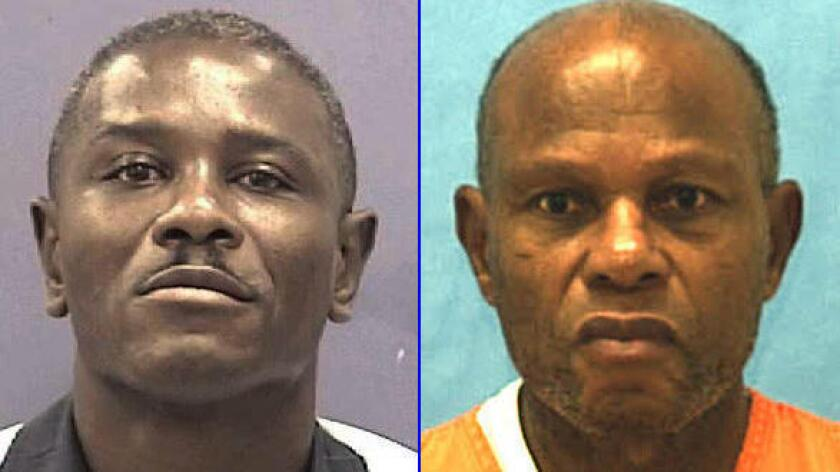 Marcus A. Wellons, left, was recently executed in Georgia. At right is John Ruthell Henry, who was executed in Florida on Wednesday evening.