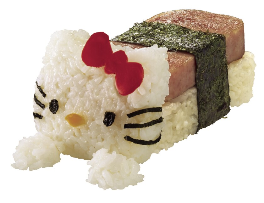 Hello Kitty SPAM musubi