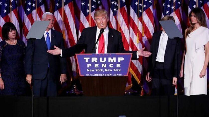 Trump realizó una campaña marcada por la polémica.