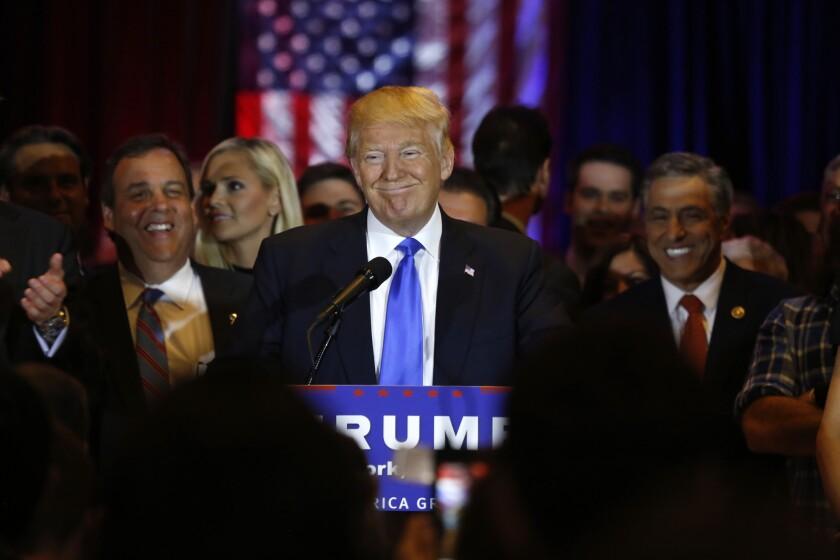 Donald Trump in New York.