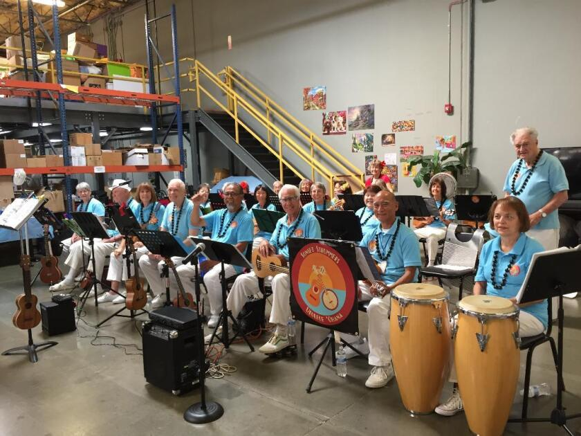 The Sunset Strummers 'Ohana Ukulele Band is looking for musicians, singers and dancers of all ages and skill levels. The group performs at venues throughout North County. A variety of instruments are played beside ukuleles, including recorders, harmonicas, drums, auto harp and bells. Free classes are 9 to 11:30 a.m. Mondays and Thursdays at the Salvation Army Chapel, 3935 Lake Blvd. in Oceanside. Ukuleles are available in class. E-mail sugarcat70@hotmail.com or call (760) 630-1422.