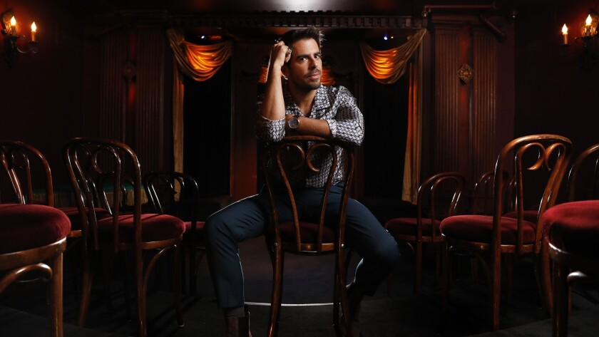 """Eli Roth, director of """"The House With a Clock in Its Walls,"""" is photographed at the Magic Castle in Hollywood."""