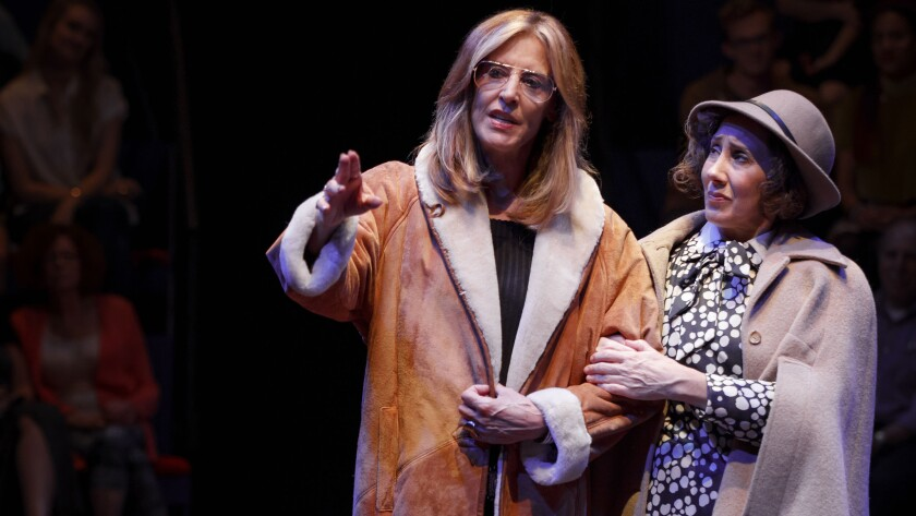 "Christine Lahti, left, and Joanna Glushak in ""Great Performances: Gloria: A Life"" on PBS."