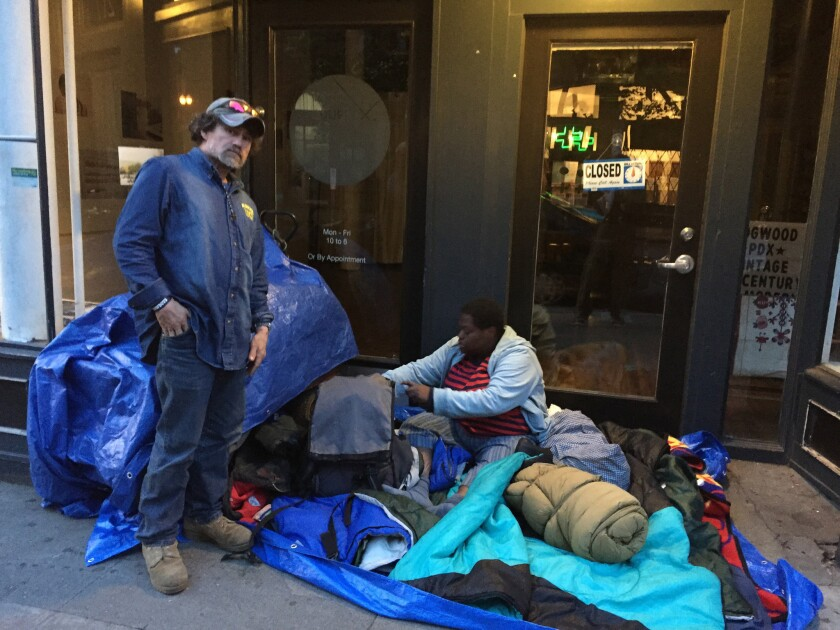 Some of Portland's estimated 2,000 homeless people.
