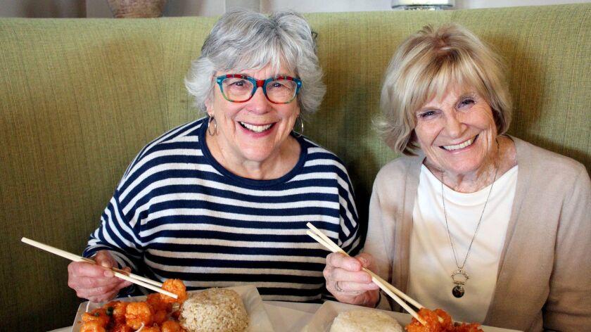 Glendale residents, from left, Karen Judson and Marie Baker enjoyed Chloe Shrimp at New Moon Restaur