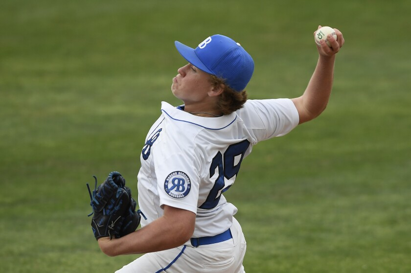 Rancho Bernardo High freshman pitcher Tyler Arnold is now 3-0 after beating LCC on Friday.
