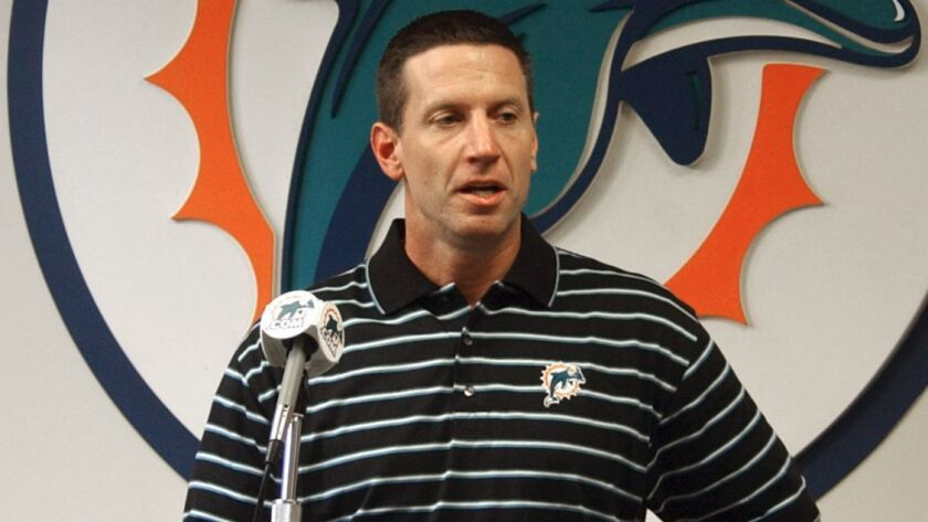 Chris Foerster, shown in 2004, is the offensive line coach for the Miami Dolphins.