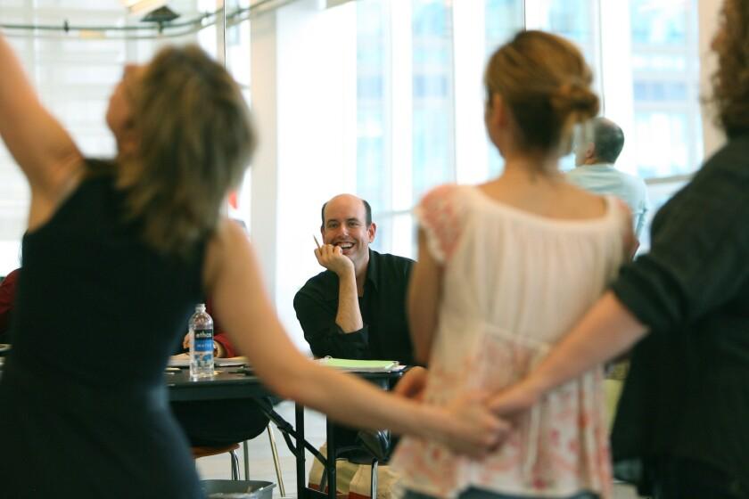La Jolla Playhouse artistic director Christopher Ashley in rehearsal