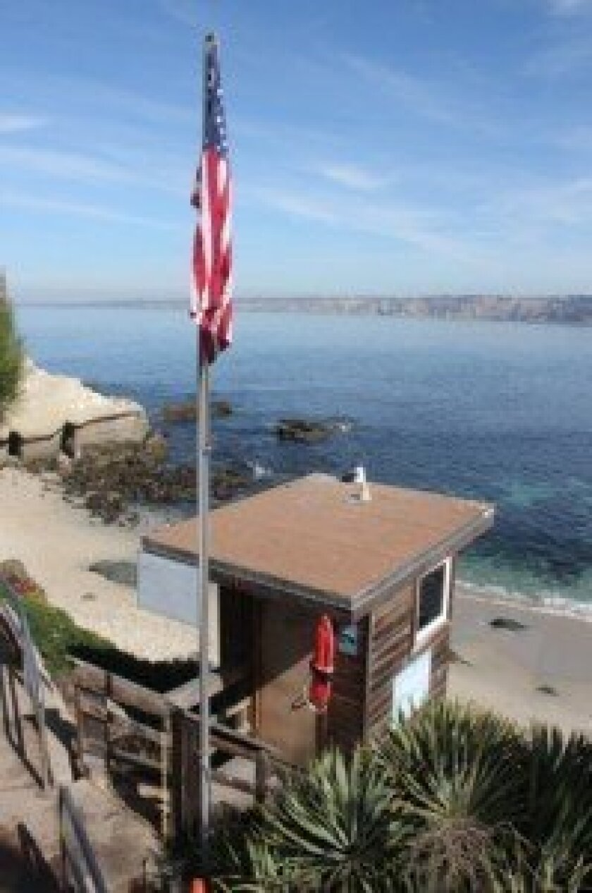The old Cove lifeguard tower was torn down in late March. Pat Sherman