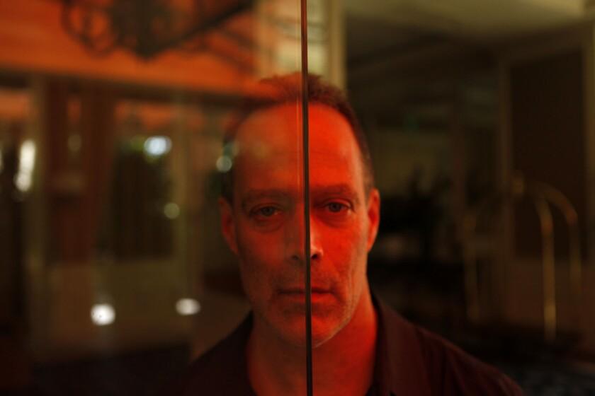 Documentary filmmaker Sebastian Junger in Beverly Hills.