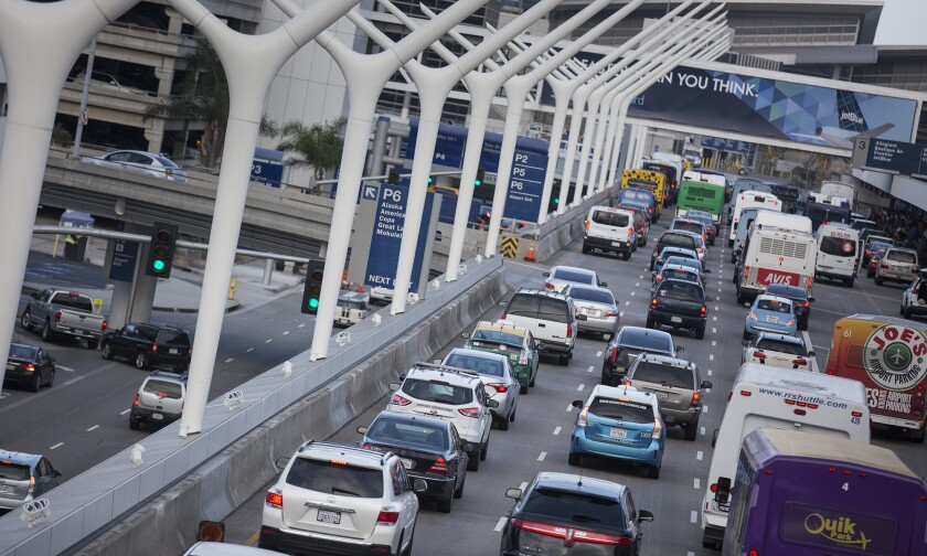 Heavy traffic is expected at LAX throughout Labor Day weekend.