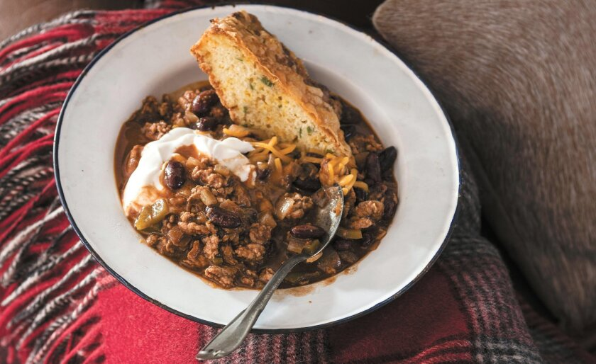 """This turkey chili is a """"go-to"""" recipe for actress Ali Larter."""
