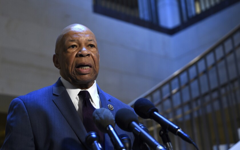 Rep. Elijah E. Cummings of Maryland was a key figure in the Trump impeachment inquiry and had hoped to return to Congress after a medical procedure.