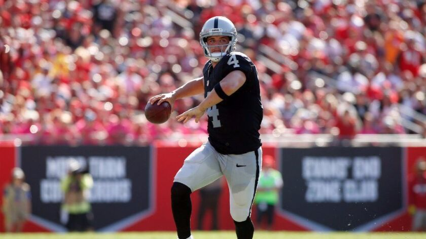 NFL: Raiders set good and bad records in overtime win against the Buccaneers, 30-24