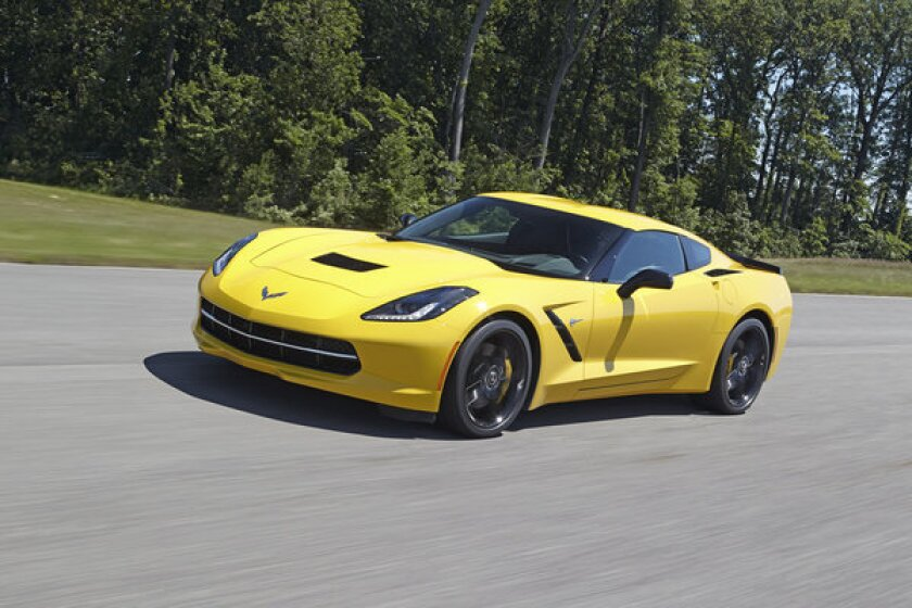 A shot of the 2014 Chevrolet Corvette Stingray Z51 that completed a lap at Virginia International Raceway in 2:51.78. Chevrolet said this model will do zero to 60 mph in 3.8 seconds.