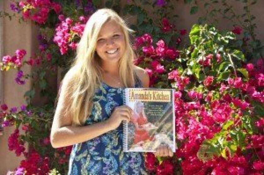 "Canyon Crest Academy sophomore Amanda Presar, author of ""Amanda's Kitchen."""