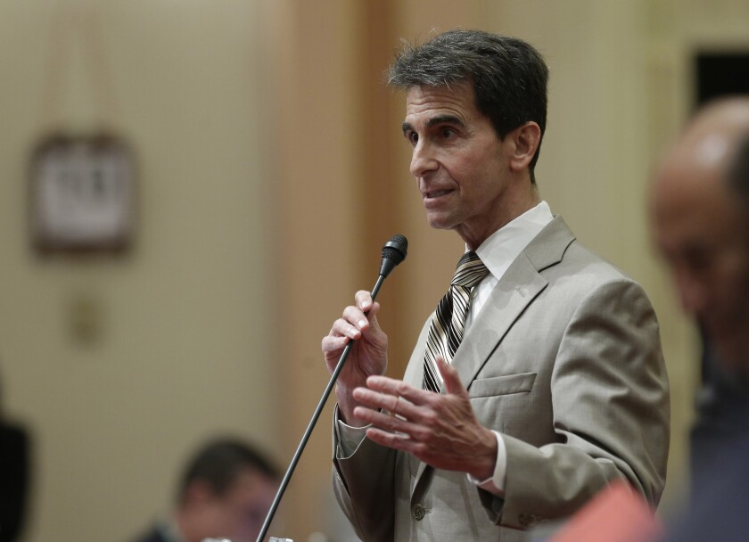 Sen. Mark Leno (D-San Francisco) speaks during a recent California Senate session.