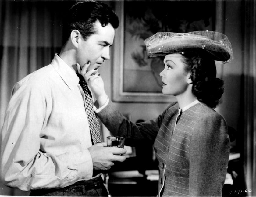 Ray Milland and Jane Wyman