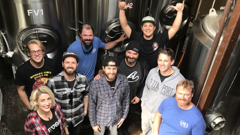 Springboard Pale Ale collaboration team.