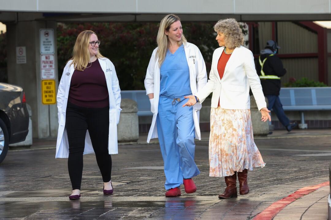 Dr. Emily Fay, Dr. Alisa Kachikis and Dr. Linda Eckert at the University of Washington Medical Center