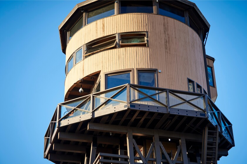 First constructed in the 1890s and rebuilt multiple times since, the tower features four stories of living spaces with pirate themes and striking views.