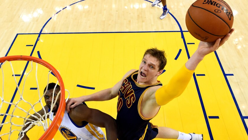 Center Timofey Mozgov won a title as a reserve for the Cavaliers last season.