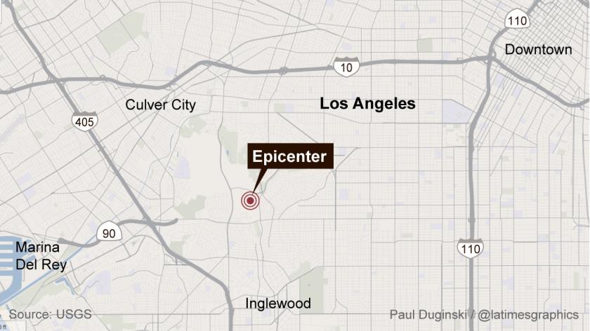 Magnitude 3.5 earthquake jolts Los Angeles