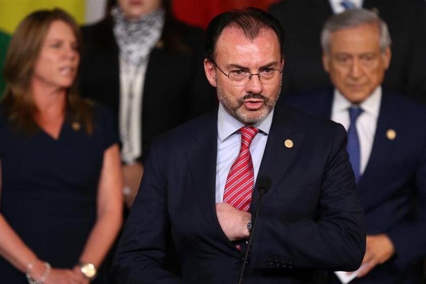 El secretario de Relaciones Exteriores de México, Luis Videgaray. EFE/Archivo