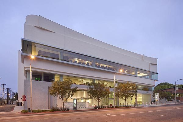 The new three-story West Hollywood Library along San Vicente Boulevard opens Saturday and features about 48,000 square feet.