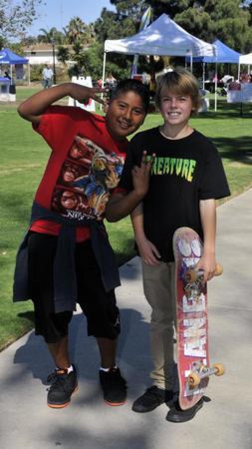 """Edgar and Charlie at """"Skateboard Day at La Colonia Park"""""""