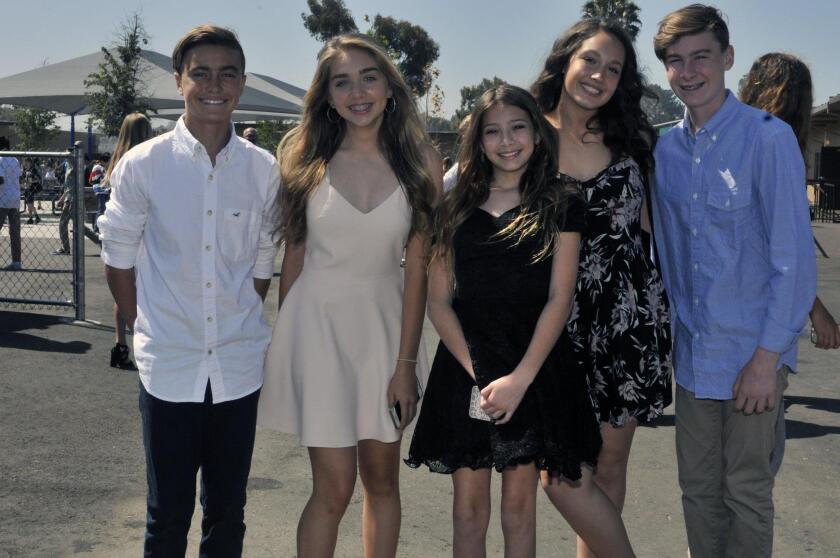 Sebastian, Elizabeth, Emilia, Ashtyn, Carson