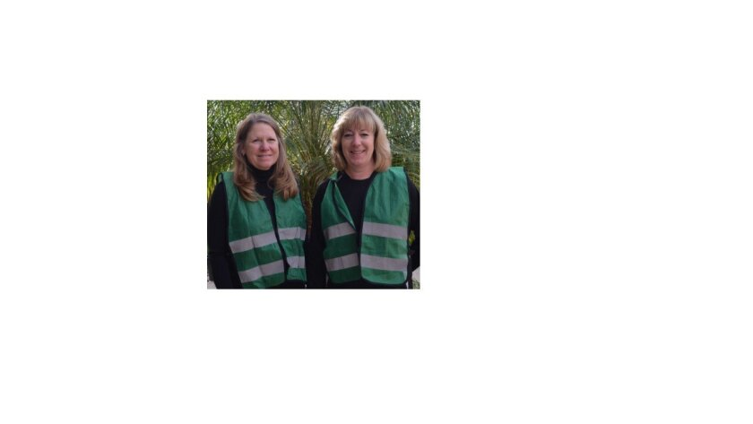 CERT Team members Linette Page and Vickie Driver.