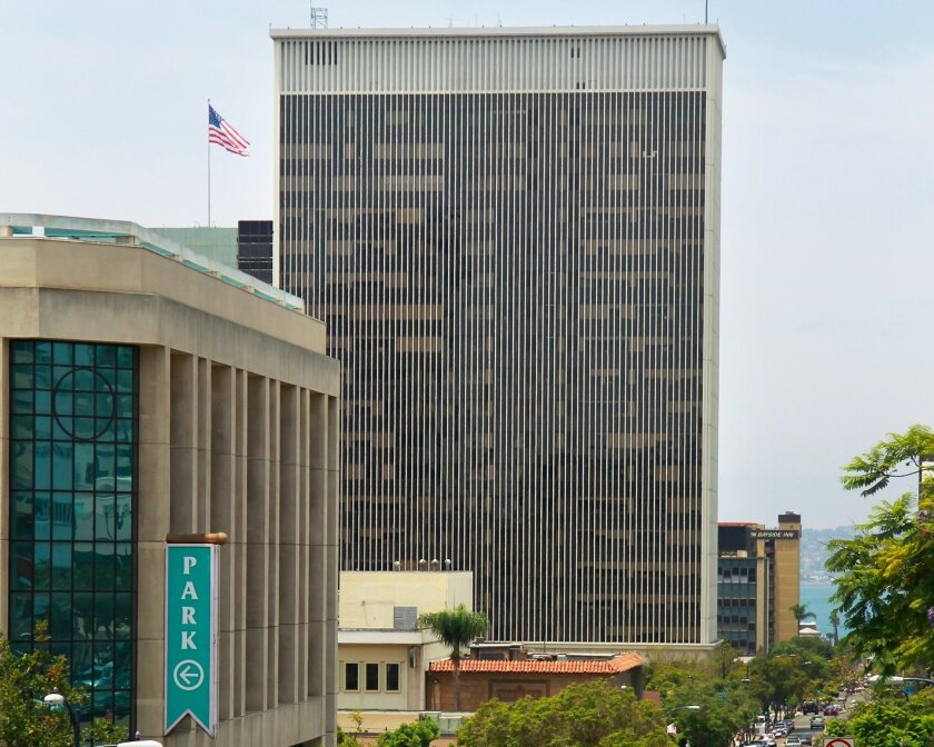 Future plans for the old Sempra/SDG&E building, opened in 1968  at First Avenue and Ash Street, are still in flux.