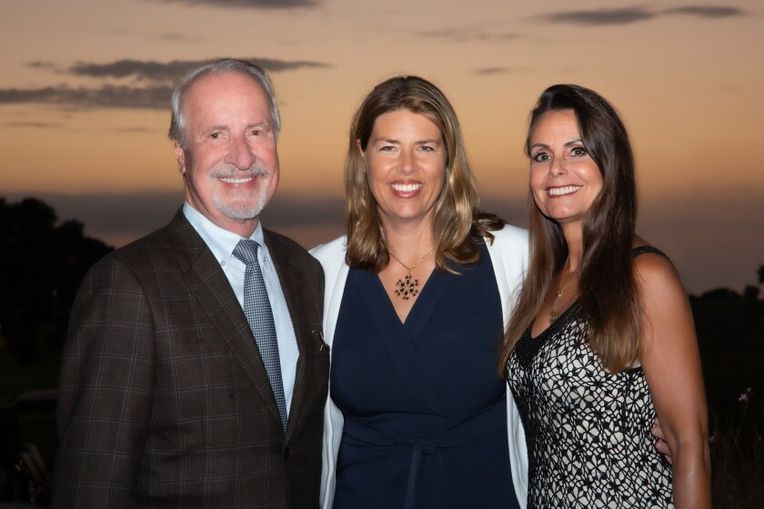 Tony Carr, La Jolla Institute for Immunology President and Chief Executive Erica Ollmann Saphire and Sandra Jones