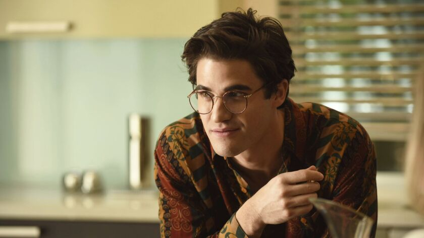 """This image released by FX shows Darren Criss as Andrew Cunanan in a scene from """"The Assassination of"""