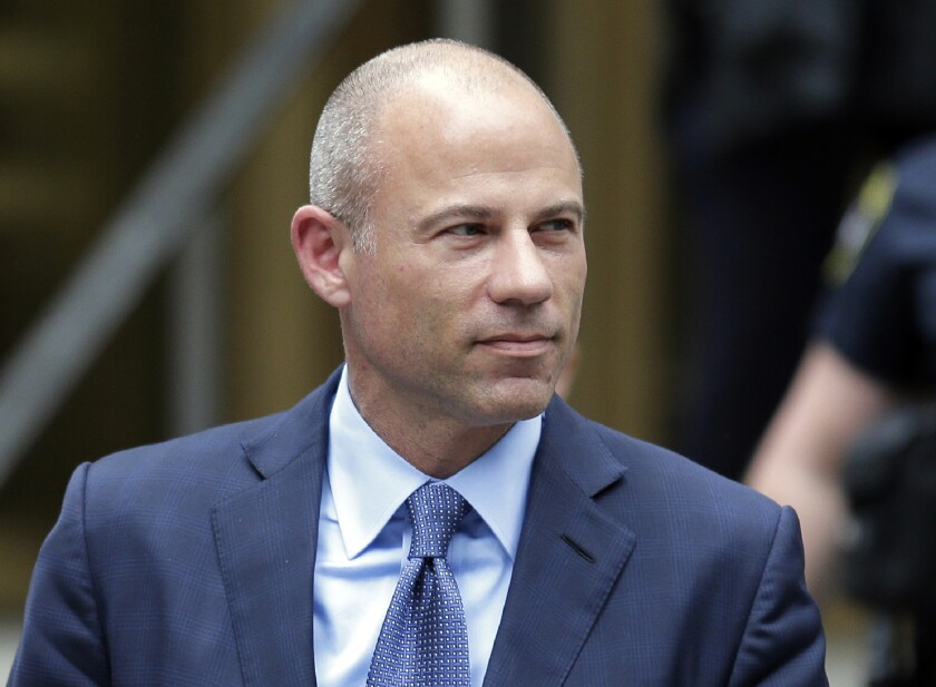 FILE - In this May 28, 2019, file photo, California attorney Michael Avenatti leaves a courthouse in New York following a hearing. Avenatti will face charges that he ripped off porn star Stormy Daniels of hundreds of thousands of dollars in book proceeds in New York rather than Los Angeles, a judge ruled Tuesday, Sept. 24, 2019. (AP Photo/Seth Wenig, File)