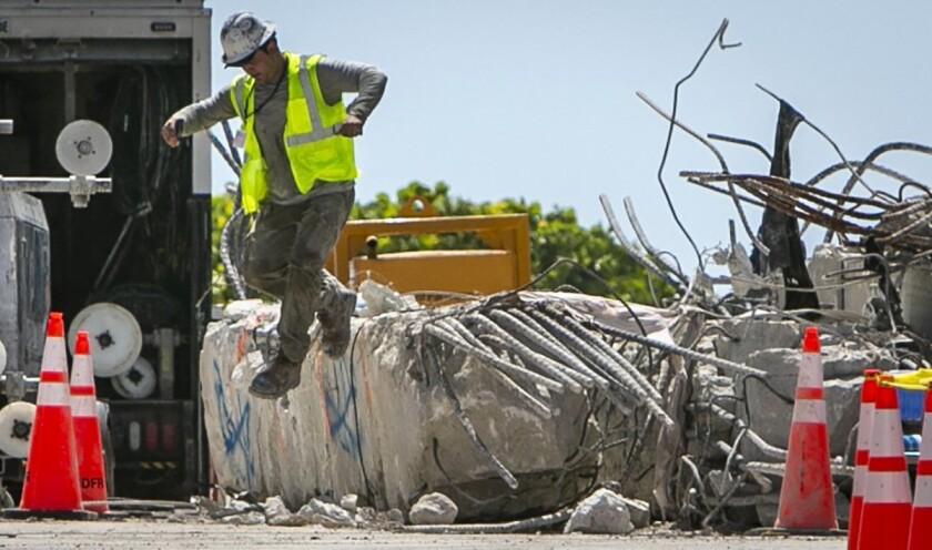 Ingeniero: Sitio de edificio derruido en Miami es inseguro