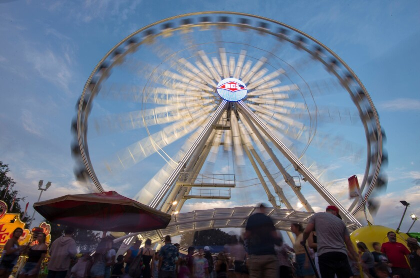 Orange County fair Ferris wheel