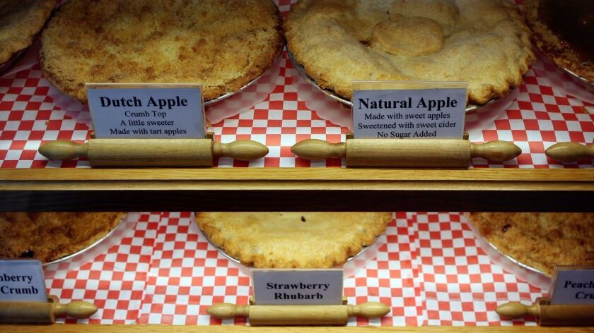 Before the morning crowd arrives at the Julian Pie company in Julian, a delivery of hot and fresh baked apple pies arrive. Julian Pie Company offers 4 traditional apple pies and 5 other pies with a