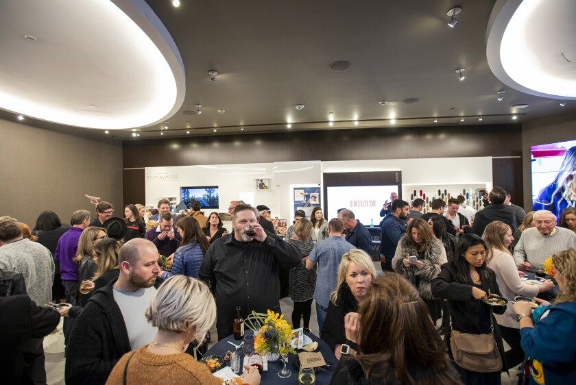 Guests participate in the Newport Beach Restaurant Week kickoff party in January.