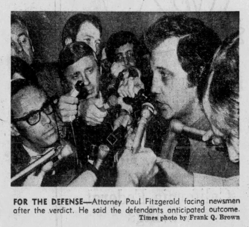 Attorney Paul Fitzgerald after the Manson verdict