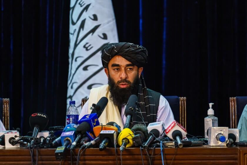 Zabihullah Mujahid, the Taliban spokesman, addresses concerns