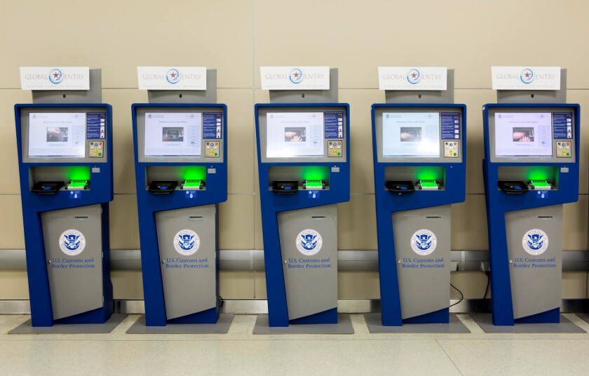 Global Entry kiosks expedite entry into the United States for those who have applied for the card and been approved.