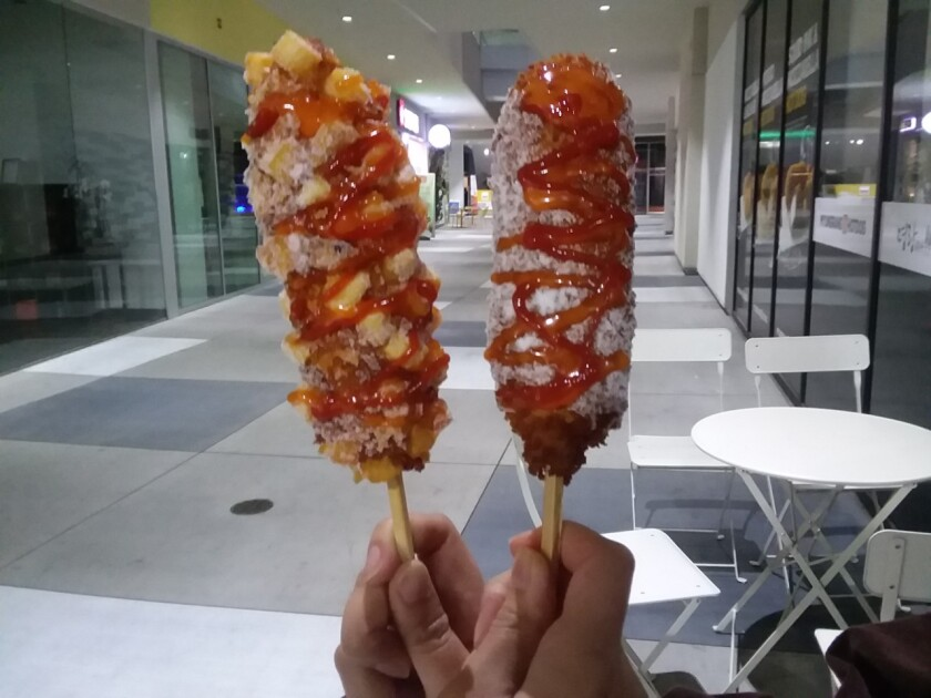 Myungrang Hot Dog, which opened a new location in Buena Park in December, is a popular Korean street food chain that is quickly expanding internationally.