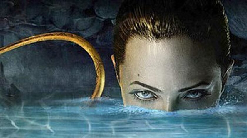 """Viewers of the """"red-band"""" trailer for """"Beowulf"""" see more of Angelina Jolie."""
